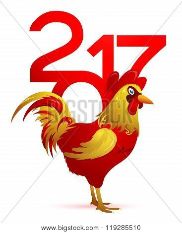 Chinese New Year 2017 with Rooster