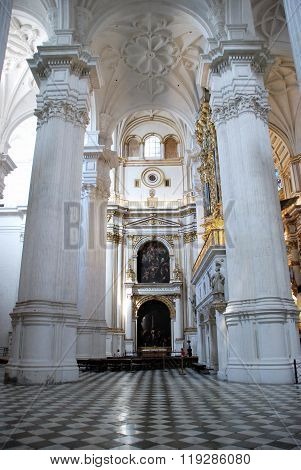 Inside Granada Cathedral.