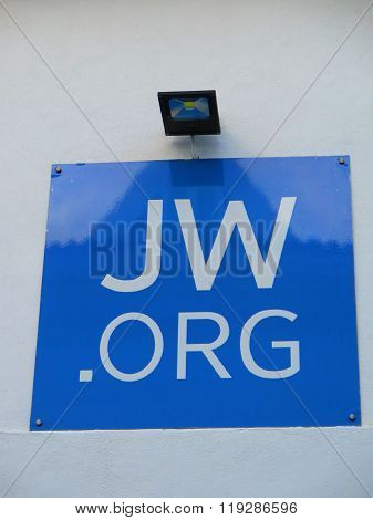 Blue Sign On Wall