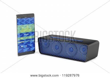Smartphone And Bluetooth Speaker