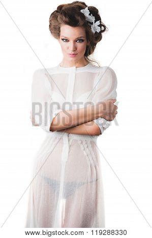 Sexy fashion model