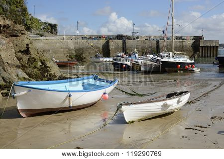 Newquay Harbour In Cornwall, England