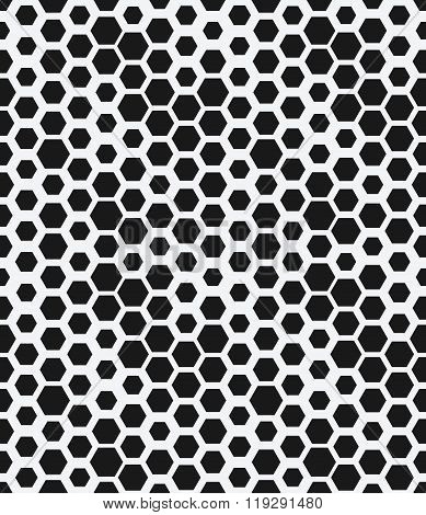 Hexagon Monochrome Seamless Geometrical Pattern