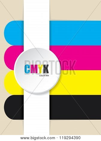 Abstract Cmyk Stripes Background