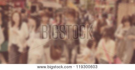 Crowded Street Blur Letter Box