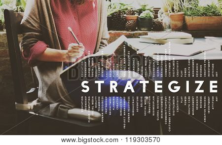 Strategize Strategist Strategic Tactics Vision Concept poster