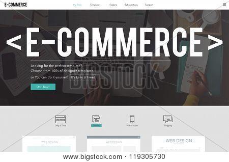 E-Commerce E-Business Internet Technology Conect Concept