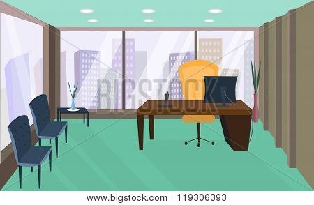 Office interior. Office room