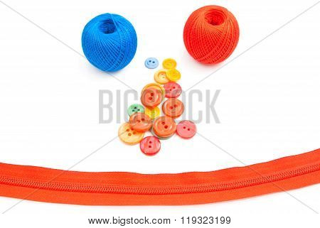 Smiley Face Of Items For Needlework