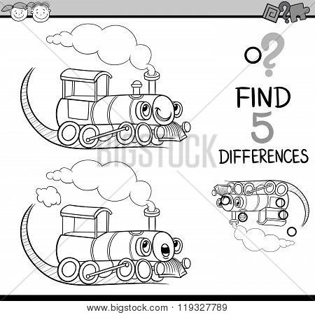 Find The Differences Coloring Book