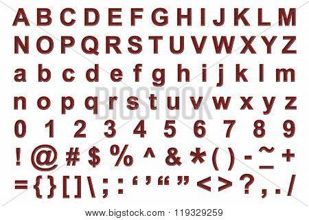 Metal grunge alphabet