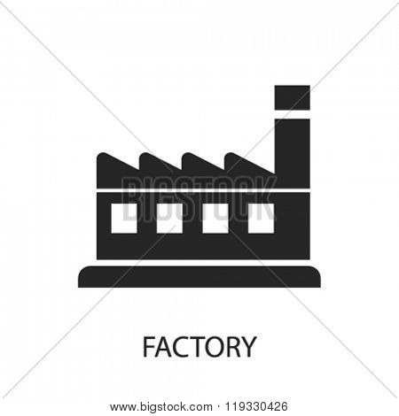 factory icon, factory logo, factory icon vector, factory illustration, factory symbol