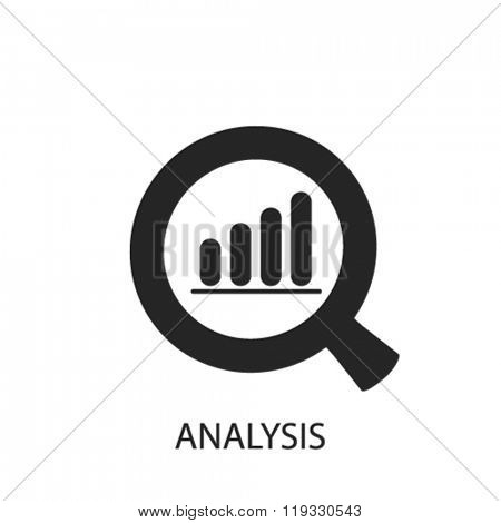 analysis icon, analysis logo, analysis icon vector, analysis illustration, analysis symbol