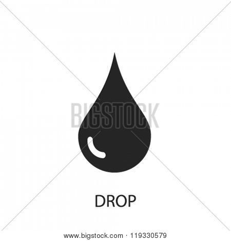 drop icon, drop logo, drop icon vector, drop illustration, drop symbol