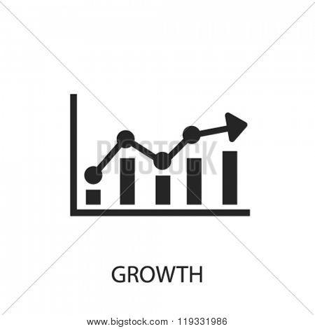 growth icon, growth logo, growth icon vector, growth illustration, growth symbol