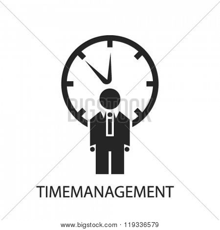 time management icon, time management logo, time management icon vector, time management illustration, time management symbol, time management isolated, time management image, time management concept