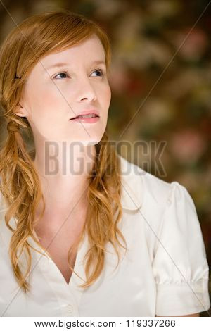 Woman wearing pigtails