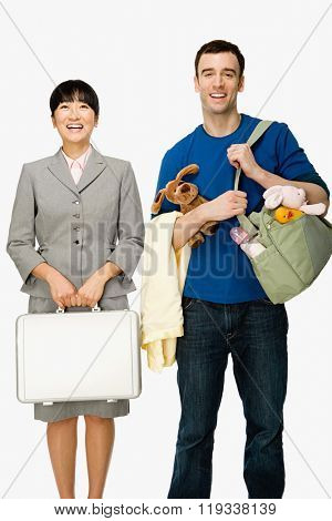 Businesswoman and husband