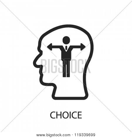 choice icon, choice logo, choice icon vector, choice illustration, choice symbol