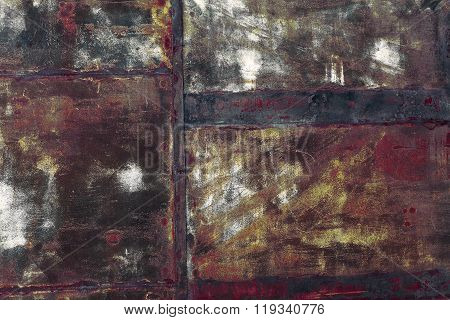 Rusty Patched Metal Sheet Background