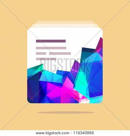 Polygonal vector UI element