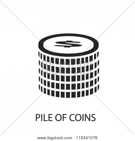 pile of coins icon, pile of coins logo, pile of coins icon vector, pile of coins illustration, pile of coins symbol, pile of coins isolated, pile of coins image, pile of coins concept