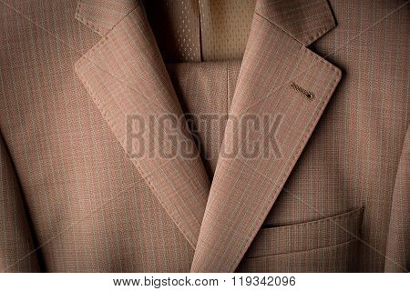 Men Beige Jacket Closeup