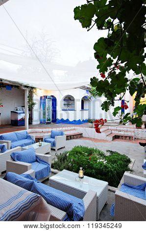 Greek tavern concept , modern greek restaurant
