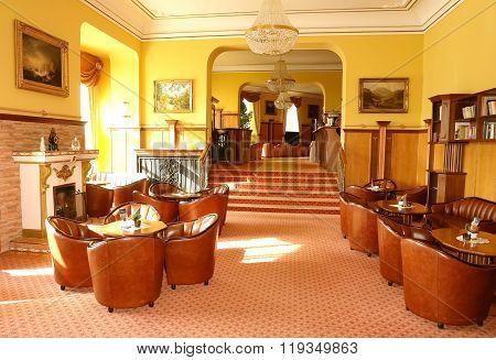 Interior Of Hotel Hall.