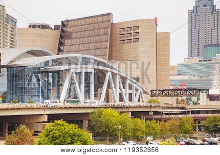Philips Arena And Cnn Center In Atlanta, Ga
