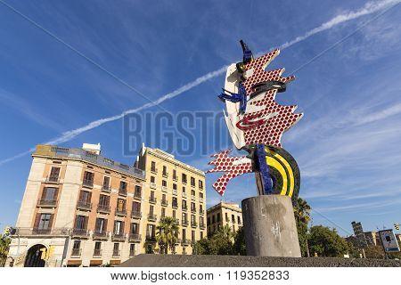 El Cap De Barcelona Is A Surrealist Sculpture