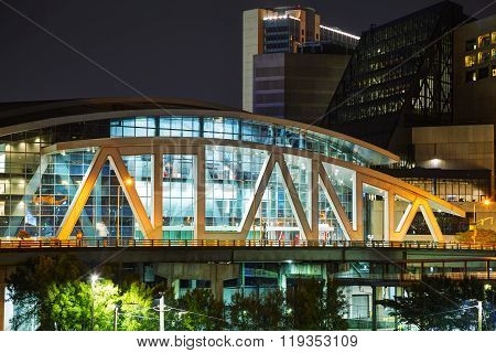 Philips Arena And Cnn Center In Atlanta, Ga