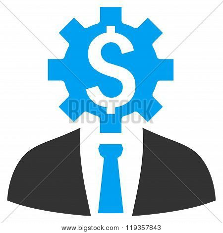 Office Worker Flat Glyph Icon