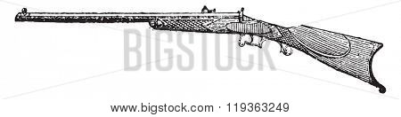 Paris rifle, vintage engraved illustration. Dictionary of words and things - Larive and Fleury - 1895.