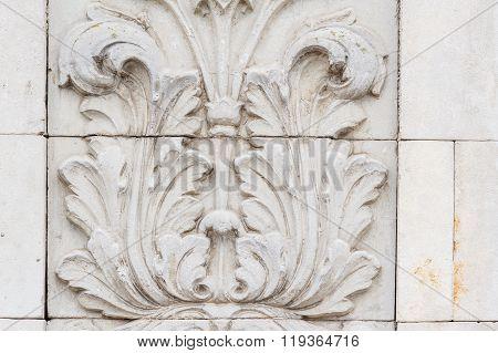 Classical Architecture Column and Frieze ornament