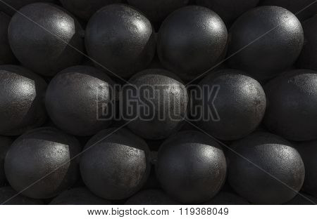 Cannonballs Or Cannon Balls Stack Texture, Pattern Or Background
