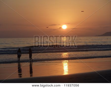 San Diego Silver Strand sunset