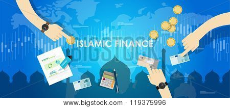 islamic finance economy islam banking money management concept sharia bank