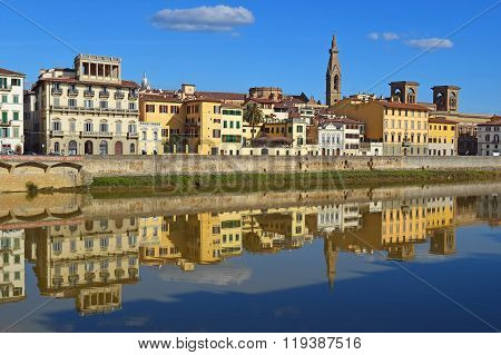 Embankment Of The River Arno, Florence