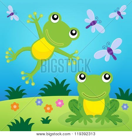 Frog thematic image 2 - eps10 vector illustration.