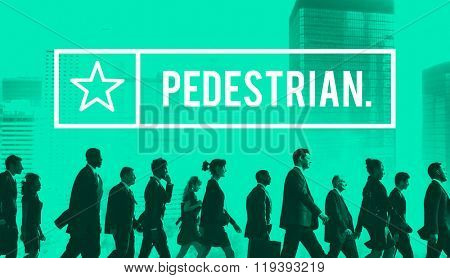 Pedestrian Traffic Walker Walking Active Boring Concept