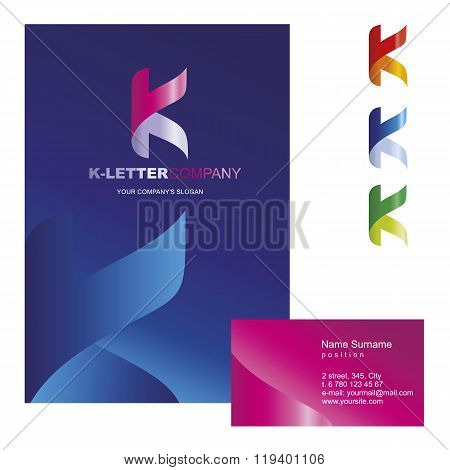 Template corporate company signs K-letter_logo_01