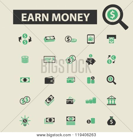 earn money icons, earn money logo, earn money vector, earn money flat illustration concept, earn money infographics, earn money symbols,
