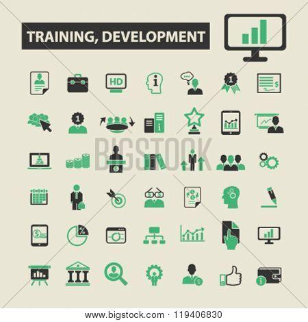 training, development icons, training, development logo, training, development vector, training, development flat illustration concept, training, development infographics