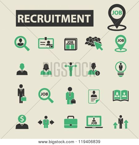 recruitment icons, recruitment logo, recruitment vector, recruitment flat illustration concept, recruitment infographics, recruitment symbols,