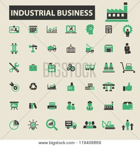 industrial business icons, industrial business logo, industrial business vector, industrial business flat illustration concept, industrial business infographics, industrial business symbols,