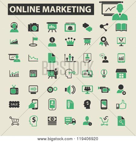 online marketing icons, online marketing logo, online marketing vector, online marketing flat illustration concept, online marketing infographics, online marketing symbols,