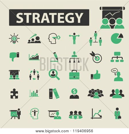 strategy icons, strategy logo, strategy vector, strategy flat illustration concept, strategy infographics, strategy symbols,