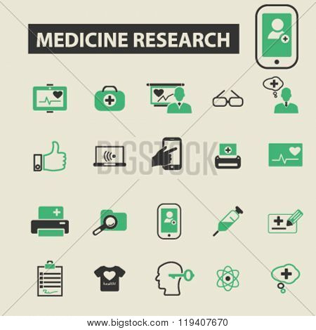 medicine research icons, medicine research logo, medicine research vector, medicine research flat illustration concept, medicine research infographics, medicine research symbols,