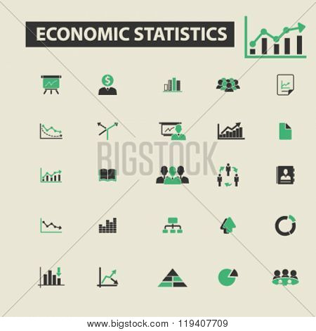 economic statistics icons, economic statistics logo, economic statistics vector, economic statistics flat illustration concept, economic statistics infographics, economic statistics symbols,